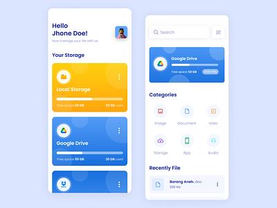 Storage App - App Design storage app user interface design user experience user interface userinterface design app ux mobile app app design uxdesign uiux uidesign ui application app