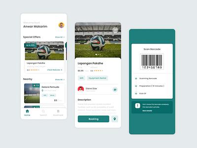 Premier Futsal - App Design futsalapp football football app futsal mobile app ux design app app design uiux uxdesign uidesign ui application app