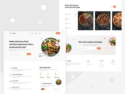 MadangGeden - Food Recipe Website 🍕 webdesign web design website recipe website recipe food website foodwebsite food illustration design uxdesign ux uiux uidesign ui mobile app design app app design