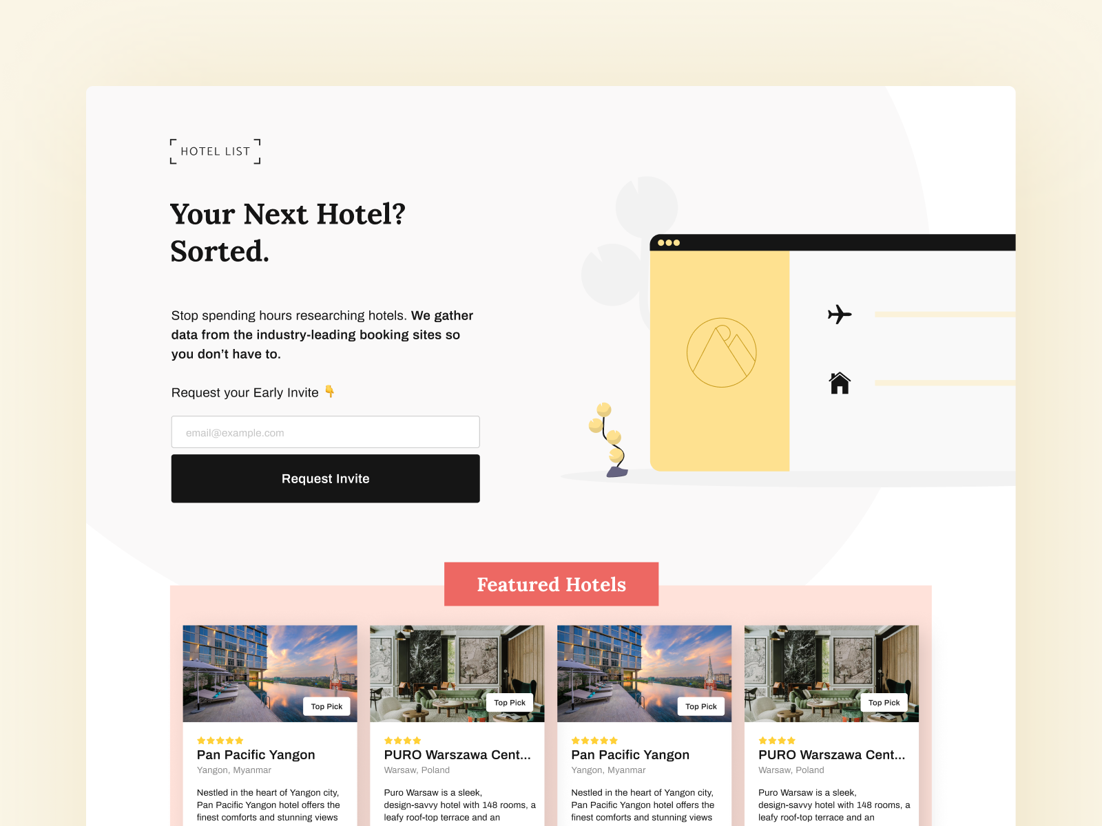 Hotel List —AI Curated Accommodation