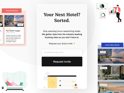 Hotel List —AI Curated Accommodation landing page design landing mobile design mobile ui mobile travel agency traveling travel hotel hotels ai curation accommodation booking ui uidesing uidesign