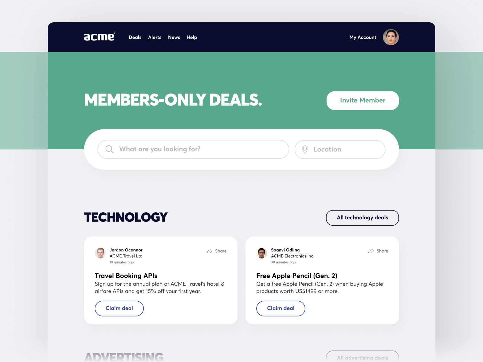Member's Only Marketplace