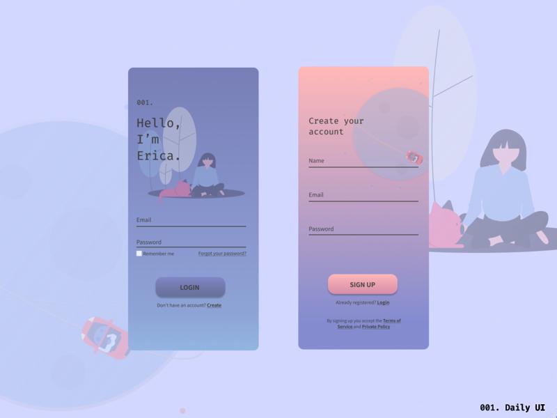 001. Daily UI dailyui dailyui 001 app ui design