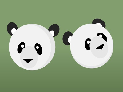Panda - it's my favourite animal! web icon adobe illustrator typography branding design vector illustration practice website design webdesign