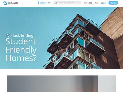 Student Renting App minimal web ux ui design