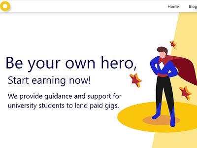 Student Startup website design app web ux ui