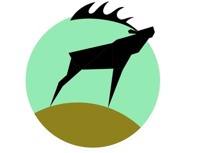 Red deer vector branding character art illustration design nice good circle green logo design logodesign logotype logos logo deer red