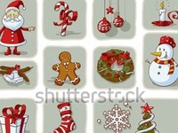 Stock Vector Vintage Christmas Graphic Elements Hand Drawn Vecto