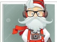 Santa Claus Hipster Style Cartoon