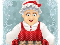 Granny Baked Some Cookies Stock Vector