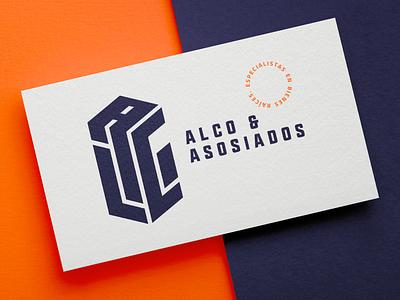 ALCO / Branding identidad de marca diseño de logo branding bold brand dirección de arte bienes raíces tipography