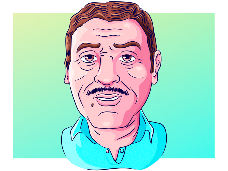 Ilustración / Día de la Padre arte digital vector illustration caricature father