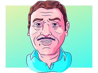 Ilustración / Día de la Padre arte digital vector illustration caricature father
