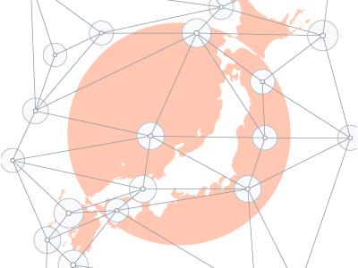 Japan japan grid map
