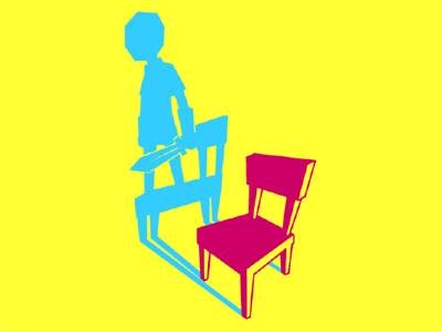 Sitting There Standing Logo vector knight sword videogame game blue pink yellow logo