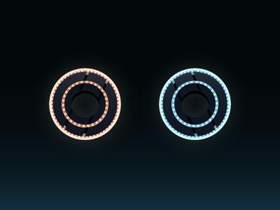 Frisbees of Doom disks neon glow legacy tron legacy disney vector