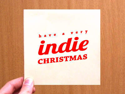 Have A Very Indie Christmas christmas cd sleeve album cover artwork itunes indie download wood