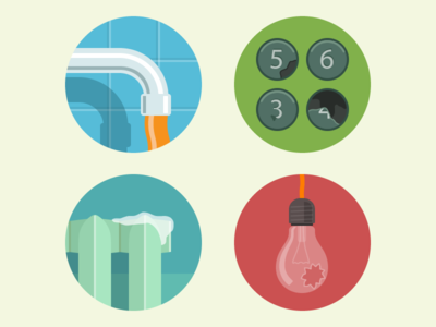 Bad Living Conditions Icons