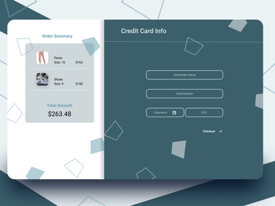 Credit Card Checkout figma design dailyui credit card checkout