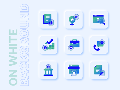 Icons for Social Go App on white background design glassmorphism glass vector icon ui