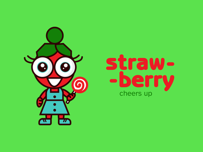Strawberry Illustration bright color packing graphic design packaging design ui illustration package branding