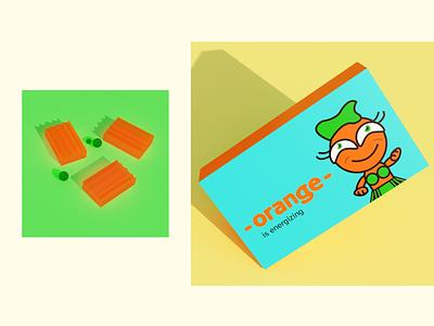 Orange packaging packing packaging trend vector illustration branding design