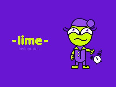 Lime Illustration fictional hero character series packaging graphic design packing package bright color design branding illustration