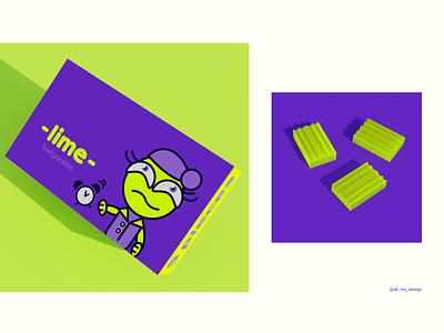 Lime packaging color hero character packaging graphic design vector illustration branding design