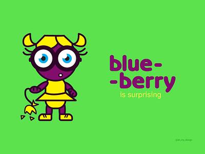 Blueberry Illustration character hero contrast color packing packaging graphic design illustration branding design