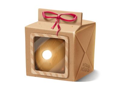 Craft paper box ball wood box paper craft