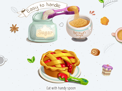 tea time with handy spoon