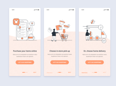 Onboarding Screens - Ecommerce Shopping