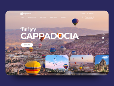Destination Landing Page Header image carousel web design beautiful bold figma user experience user interface website ux ui layout design home homepage landing page heroshot header vacation travel