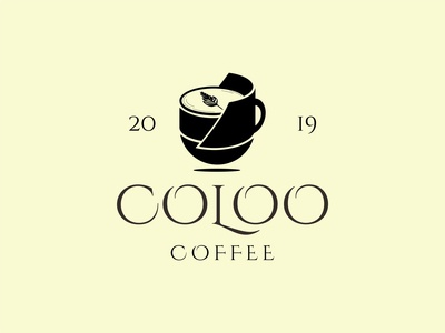 Coloo Coffee Logo typography minimal logo type logo mark logo designer logo design logo creator logo illustration icon graphic fonts flat design branding design branding concept branding and identity branding agency branding brand identity