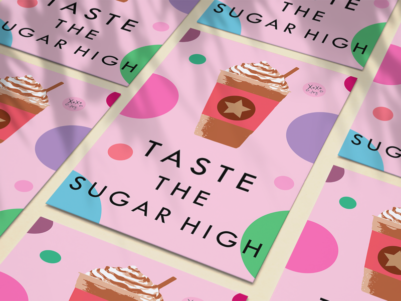 Taste the Sugar High poster poster art illustration adobe photoshop digital art colorful color graphic design digital illustration adobe illustrator