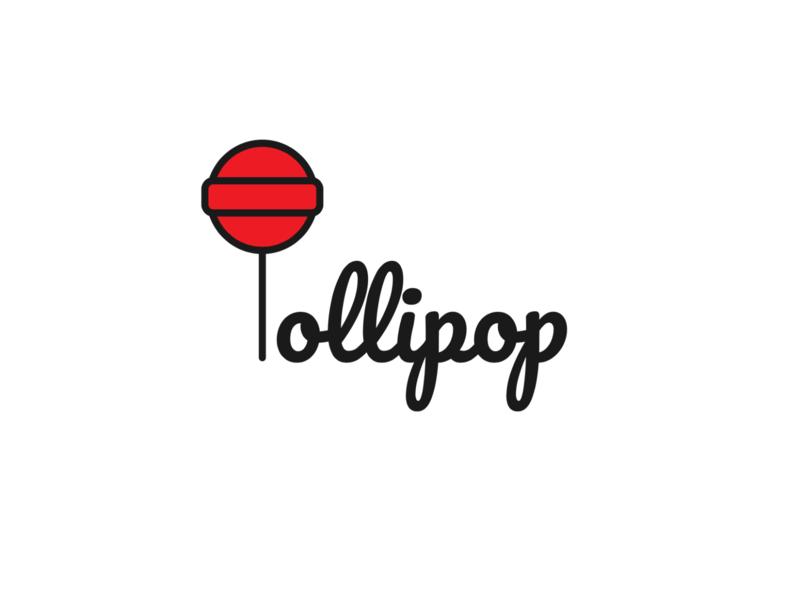 Lollipop typogaphy word design colorful digital art color design candy