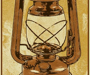 Fall Lantern posters screen print josh ritter lantern