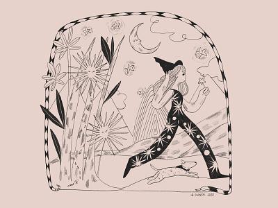 El camino se hace al andar day dog feminine character design illustration