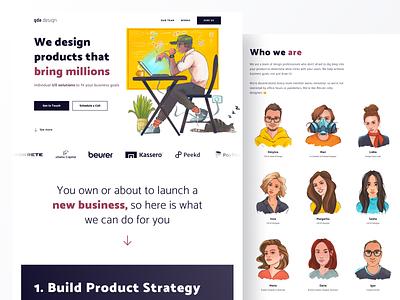 gde.design ux landing web design webdesign gdedesign team typography branding logo flat interface illustration web website