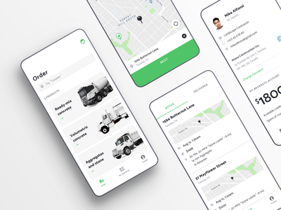 Brokrete – Order concrete as easy as you order pizza application ios mobile app concrete truck catalog profile service reactnative location map logistics building delivery delivery truck order