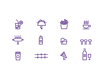 Arzábal Food Truck Icon Set eat drink foodies food icon set iconography foodtruck truck branding design icon