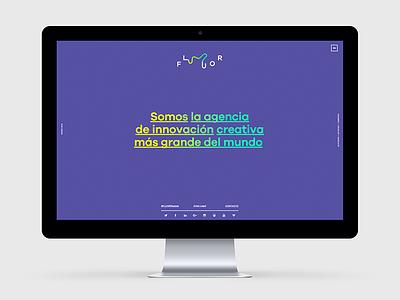 Fluor Website design ux ui website blog neon naming branches logo brand responsive branding