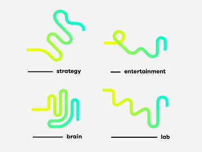 Fluor Naming & Branding logotype fluor neon naming branches logo brand dynamic flexible responsive branding