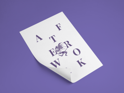 Afterwork for Arzábal printed restaurant leaflet print paper afterwork design