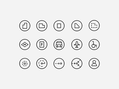 Icons for Grupo Arzábal line stroke elements map icon set icons iconography icon