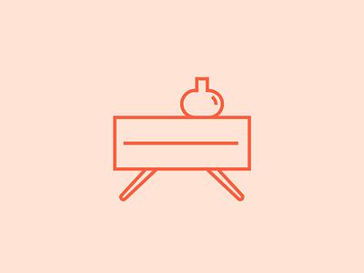 Set of icons created for Vistto vector illustration flat design decor decoration furniture interior design iconography icon design icon