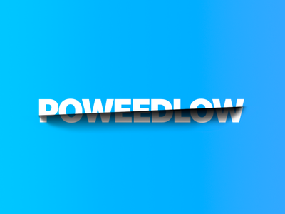 poweedlow logo design