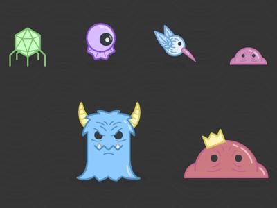 Hypnagogia Monsters game game design illustration illustrator monsters