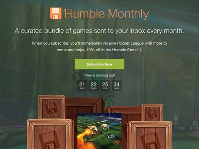 Humble Monthly Marketing Redesign