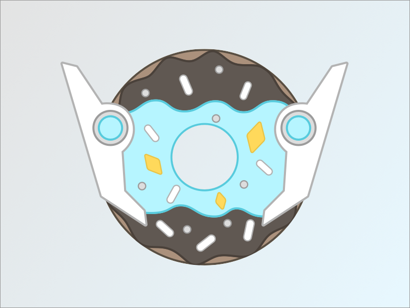 Symmetra Donut vector sketch gamer videogames digital illustration illustration donut overwatch symmetra